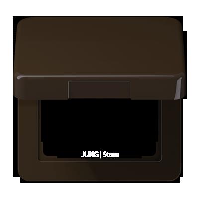 Крышка откидная для штепсельных розеток и изделий с платой 50?50 мм; коричневая
