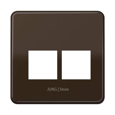CD500 Накладка для комп. розетки 2хRJ45, коричн.