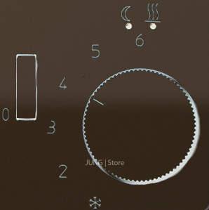 CD500 Накладка для мех-зма терморегулятора пола с выкл. FTR 231 U, коричн.