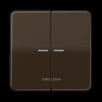 CD500 Клавиша 2-ная с 2-мя линзами, коричн.