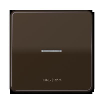 CD500 Клавиша 1-ная с линзой, коричн.