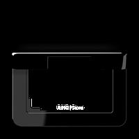 Крышка откидная для штепсельных розеток и изделий с платой 50?50 мм; черная