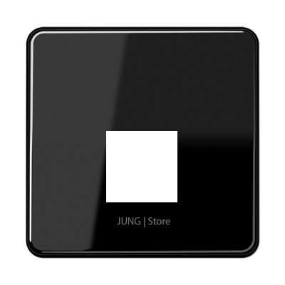 CD500 Накладка для комп. розетки 1хRJ45, чёрн.