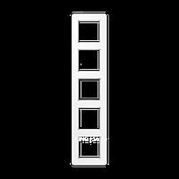 Jung A Flow - Рамка 5-ая, цвет белый