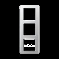 Jung A Flow - Рамка 3-ая, цвет алюминий