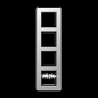 Jung A Flow - Рамка 4-ая, цвет алюминий
