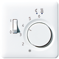 CD500 Накладка для мех-зма терморегулятора пола с выкл. FTR 231 U, бел.