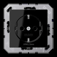 A500 Розетка со шторками 2К+З 16 А 250В~, чёрн.