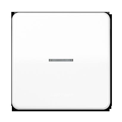 CD500 Клавиша 1-ная с линзой, бел.