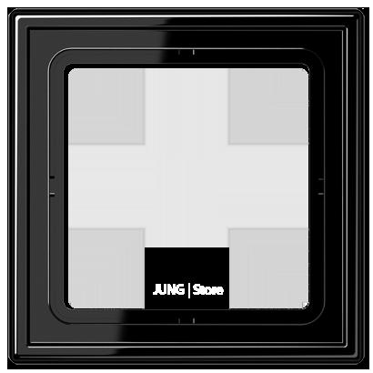 LS990 Рамка 1-ная, черный