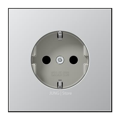 LSmetal Розетка 2К+З 16 A 250 B~, алюминий
