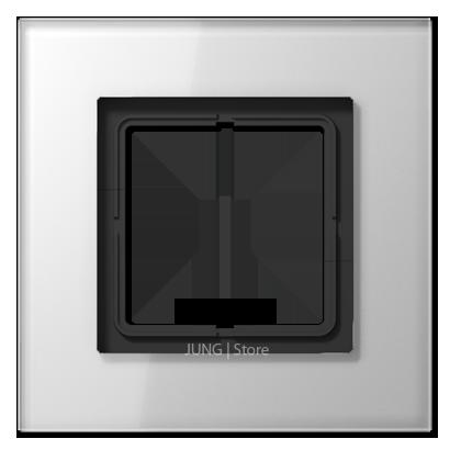 LSplus Рамка 1-ная, стекло бел.