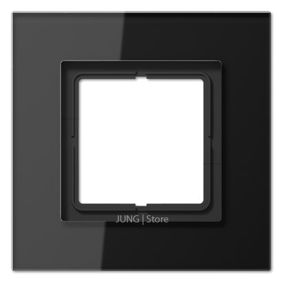 LSplus Рамка 1-ная, стекло чёрн.
