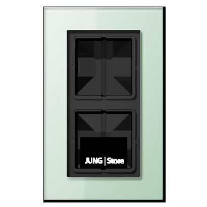 LSplus Рамка 2-ная, стекло светло-зел.