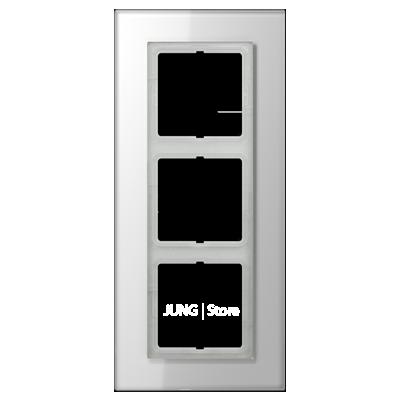 LSplus Рамка 3-ная , стекло бел.