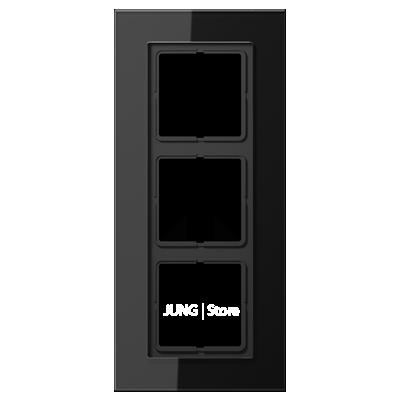 LSplus Рамка 3-ная , стекло чёрн.