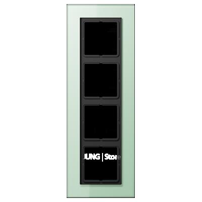 LSplus Рамка 4-ная , стекло светло-зел.
