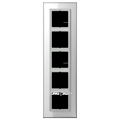LSplus Рамка 5-ная , стекло бел.