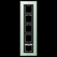 LSplus Рамка 5-ная , стекло светло-зел.