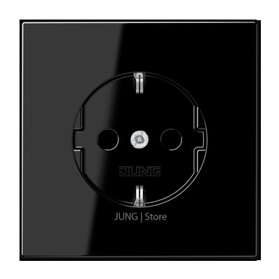 LS990 Розетка 2К+З 16А 250В~, чёрн.