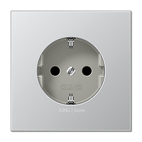 LSmetal Розетка со шторками 2К+З 16А 250В~, алюм.