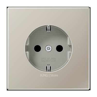 LSmetal Розетка 2К+З 16А 250В~, стальн.