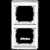 SL500 Рамка 2-ная вертикальн., бел.