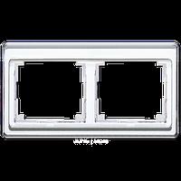 SL500 Рамка 2-ная горизонтальн., бел.
