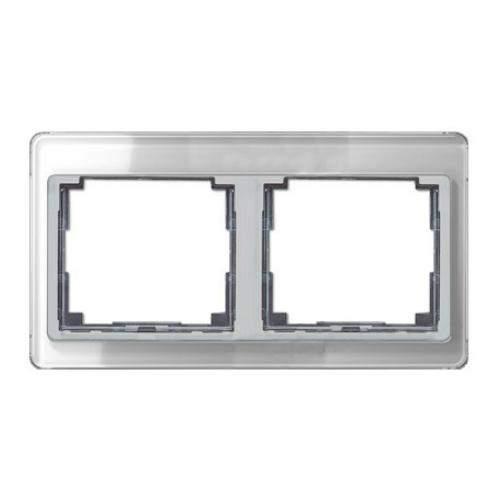 SL500 Рамка 2-ная горизонтальн., серебро