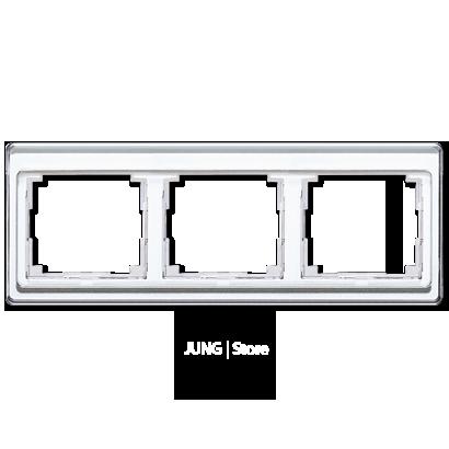 SL500 Рамка 3-ная горизонтальн., бел.