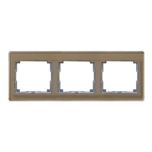 SL500 Рамка 3-ная горизонтальн., бронза