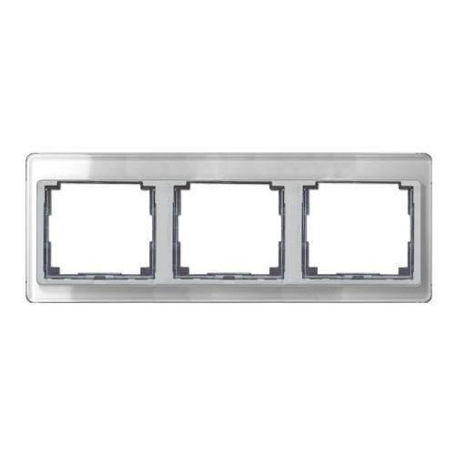 SL500 Рамка 3-ная горизонтальн., серебро