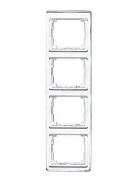 SL500 Рамка 4-ная вертикальн., бел.