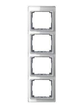SL500 Рамка 4-ная вертикальн., серебро