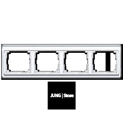 SL500 Рамка 4-ная горизонтальн., бел.