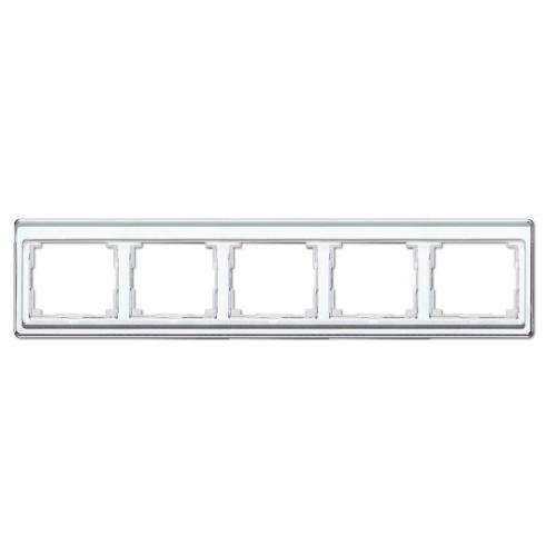 SL500 Рамка 5-ная горизонтальн., бел.