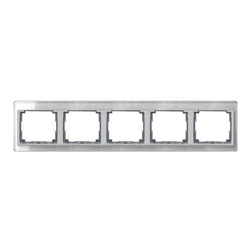 SL500 Рамка 5-ная горизонтальн., серебро