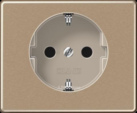 SL500 Розетка со шторками 2К+З 16 А 250В~, бронза
