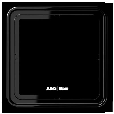 CD500 Рамка 1-ная, черн.