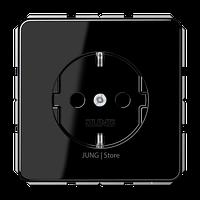 Штепсельная розетка SCHUKO 16A 250V~ с защитой от детей; центральная плата; черная