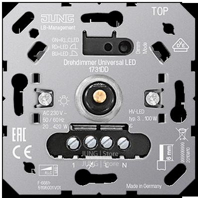 Роторный диммер универсальный LED с инкрементальным датчиком с входом для спутниковых устройств