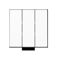 A500 Клавиша для 3-клавишного выключателя ударопрочная, белая