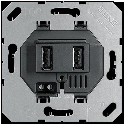 USB3-2SW_Розетка зарядная USB, 2-ая