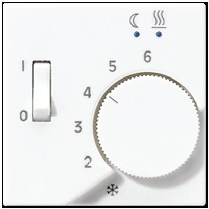 A500 Накладка для мех-зма терморегулятора пола FTR 231 U с выкл., бел.