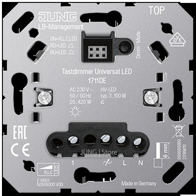 Клавишный LED диммер «универсальный» с входом для спутниковых устройств