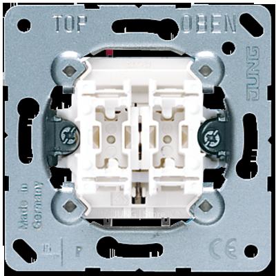 Jung Механизм 2-клавишной кнопки без фиксации с двумя НО контактными группами 10 А 250В~