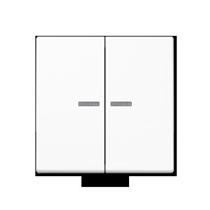 A500 Клавиша 2-ная с двумя линзами, бел.
