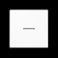 A500 Клавиша 1-ная с линзой, бел.