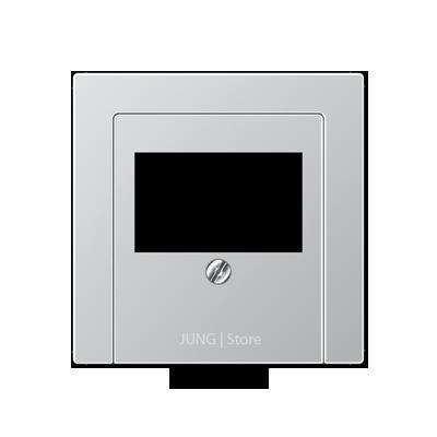 A500 Накладка ТАЕ для аудиорозеток и зарядного устр-ва USB, алюм.