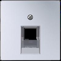 A500 Накладка для комп. розетки 1хRJ45, алюм.
